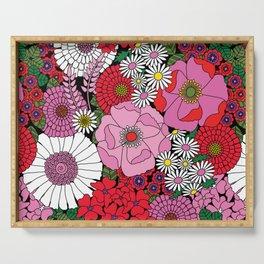 Vintage Florals Geranium Serving Tray