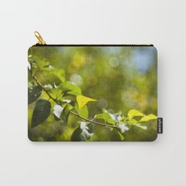 Green leaves and bokeh effect Carry-All Pouch