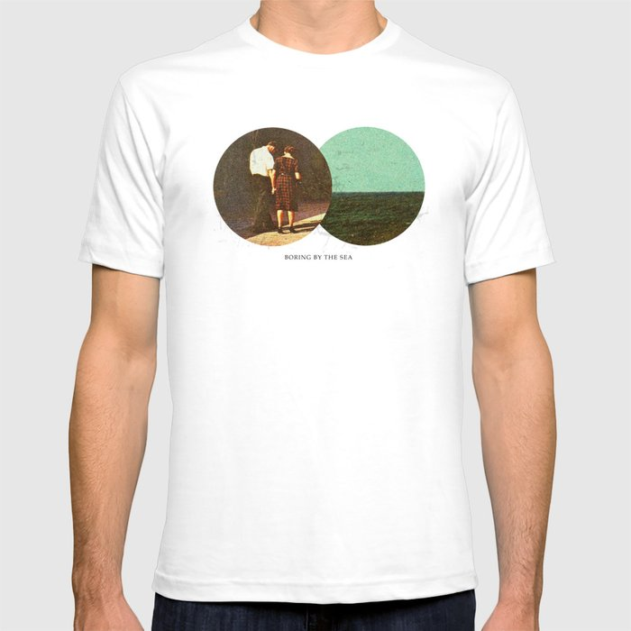 Boring by The Sea   Collage T-shirt