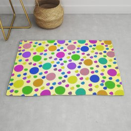 Confetti on yellow background Rug