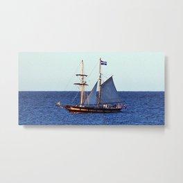 Quebec Sailboat Metal Print