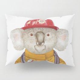 Koala Firefighter Pillow Sham