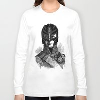 wrestling Long Sleeve T-shirts featuring WRESTLING MASK 6 by DIVIDUS DESIGN STUDIO