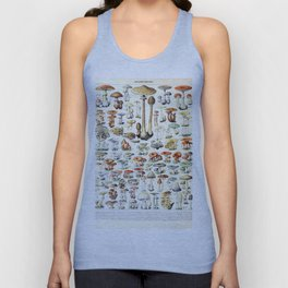 Adolphe Millot - Champignons B - French vintage poster Unisex Tank Top