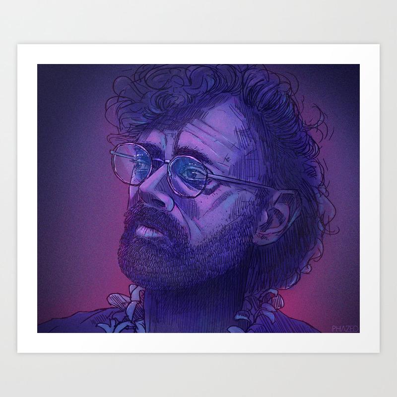Terence Mckenna Art >> Terence Mckenna Art Print