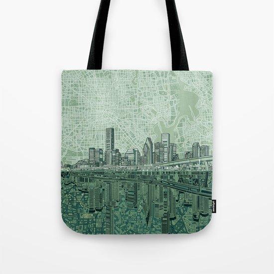 houston city skyline Tote Bag