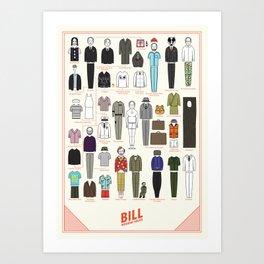 Bill Wearing Socks Art Print