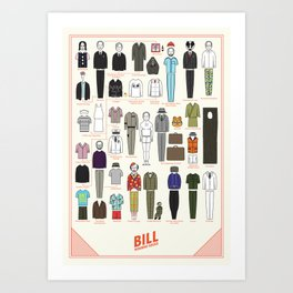 Bill Wearing Socks Art Print