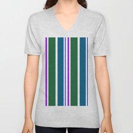 Stripes in colour 3 Unisex V-Neck