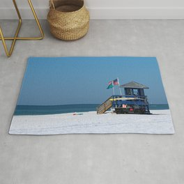 Siesta Key Lifeguard Station Rug