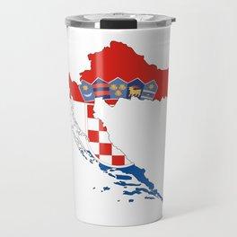 croatia flag map Travel Mug