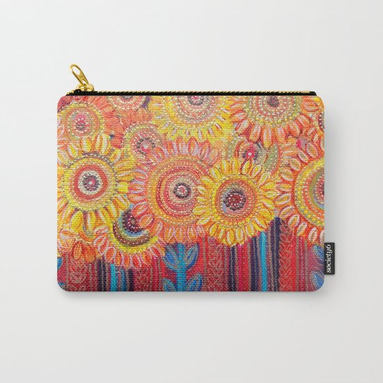 Stylised Sunflowers Carry-All Pouch
