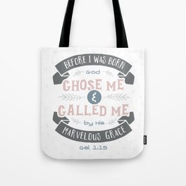 """Called"" Hand-Lettered Bible Verse Tote Bag"