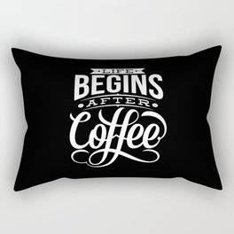 Life Begins Rectangular Pillow