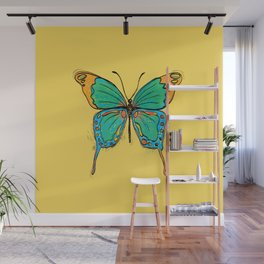 Simple Colorful Butterfly Wall Mural
