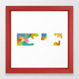 Color Puzzle Framed Art Print