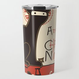A French Ninja Cat (Le Chat Ninja) Travel Mug