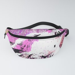 WOLF PINK MOON SHOOTING STARS Fanny Pack