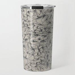 Abstract Pattern – Black Travel Mug