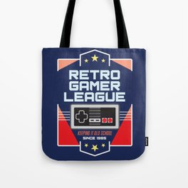 Geeky Gamer Chic Classic Vintage Gaming NES Inspired Vintage Gamer League Old School Cool Tote Bag