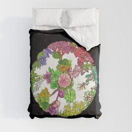 Floral Round Comforters