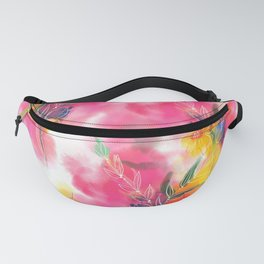 Spring stems watercolour Fanny Pack