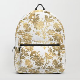 Floral Gold Backpack