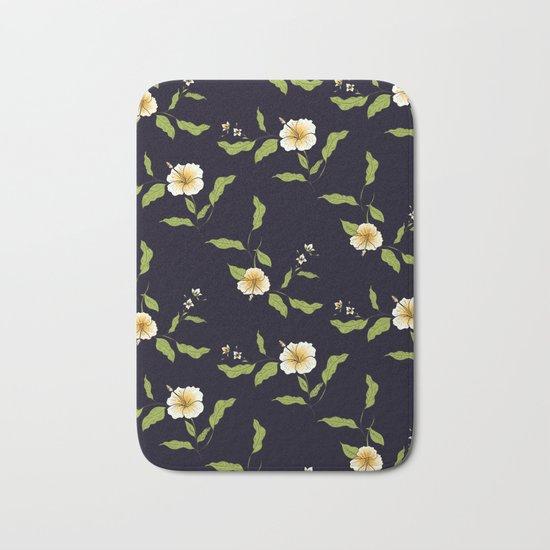 Yellow Tropical Flowers #society6 #decor #buyart Bath Mat
