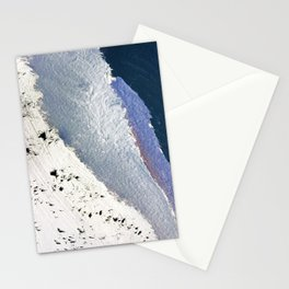 Delicate: a simple, elegant abstract piece in blues, black and white Stationery Cards