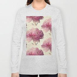 Antiqued Peony Long Sleeve T-shirt