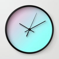 holographic Wall Clocks featuring Neon gradient - Holographic by SIXTITS