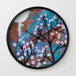 The Pipes Are Melting Botanical Nigtscape Wall Clock