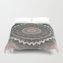 WARM WINTER MANDALA Duvet Cover