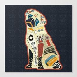Pug dog doodle boho style Canvas Print