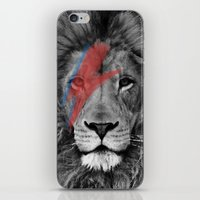 david bowie iPhone & iPod Skins featuring David Bowie Lion by Urban Exclaim Co.