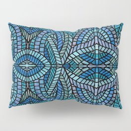 Blue Geometric Mosaic Pillow Sham