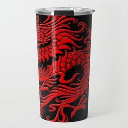 Traditional Red Chinese Dragon Circle Travel Mug