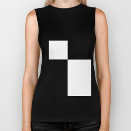 Black and White Color Block #2 Biker Tank