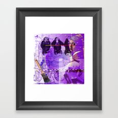 It's Just Not Gonna Happen < The NO Series (Purple) Framed Art Print