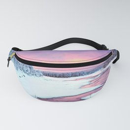 Magenta Ice Covered Stream By Wooside Fanny Pack