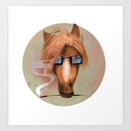 Horse BUISNESS Art Print