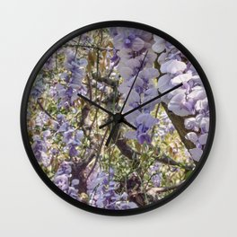wisteria Wall Clock