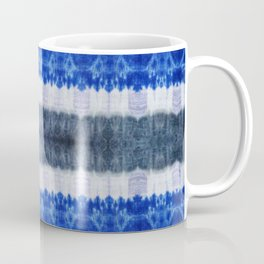 tie dye ancient resist-dyeing techniques Indigo blue grey lilac textile Coffee Mug