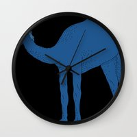 camel Wall Clocks featuring Camel by tamara elphick