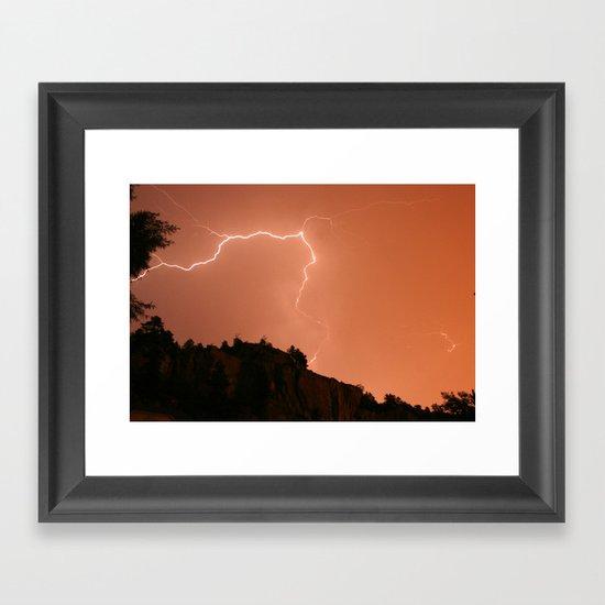 Pink Flash Framed Art Print