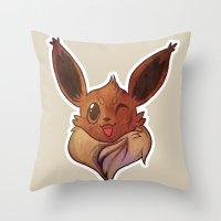 eevee Throw Pillows featuring EEVEELUTION! - EEVEE by Iris-sempi