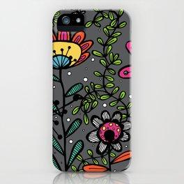Weird and wonderful (Garden) - fun floral design, nature, flowers iPhone Case