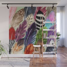 Pattern Feathers Wall Mural