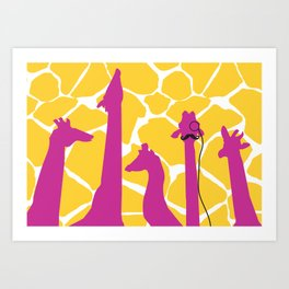 dignified giraffe. Art Print