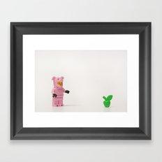 Pig Apple Framed Art Print